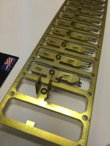 Example Precision Sheet Metal Components - Progressive Die Brass