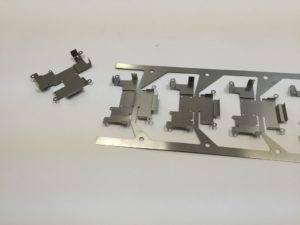Complex Progressive Die Sheet Metal Component Strip - Electromagnetic Frequency EMF and Radio Frequency RMF Shielding