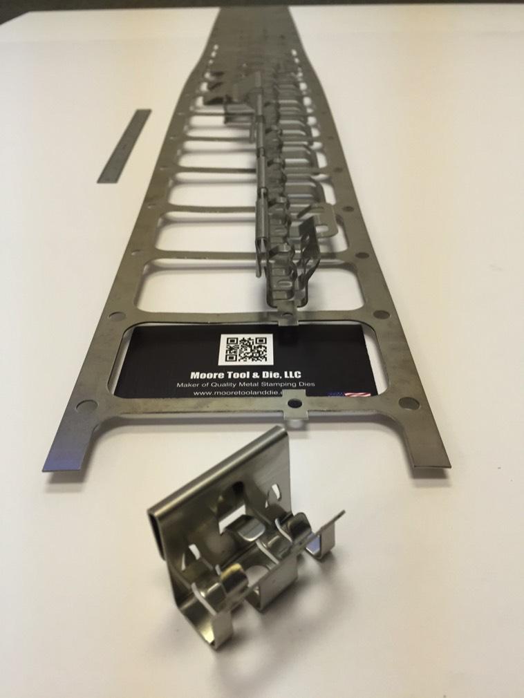 Progressive Sheet Metal Component Clip